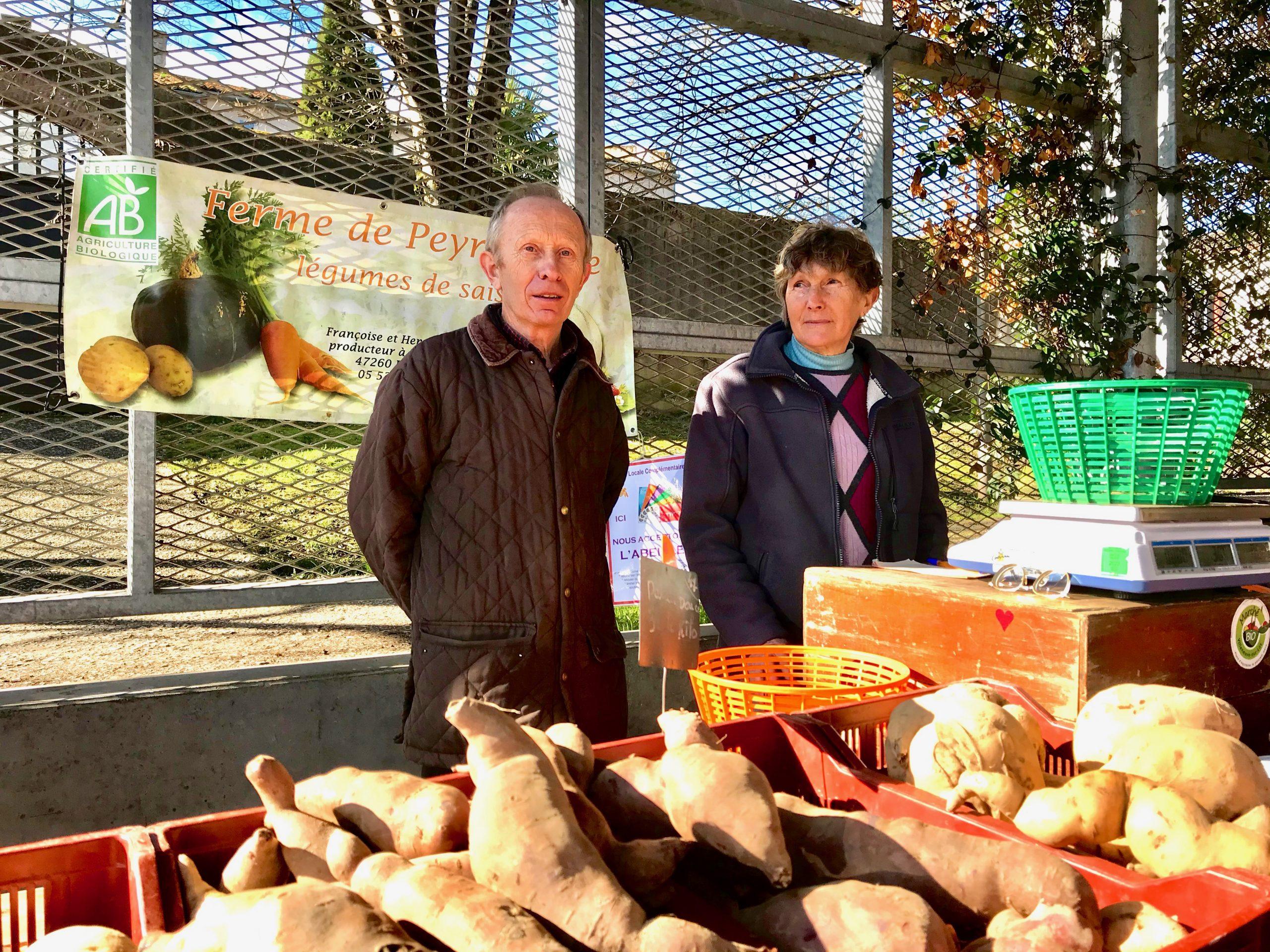 Françoise et Henri Barbot - Marché bio Villeneuve-sur-Lot